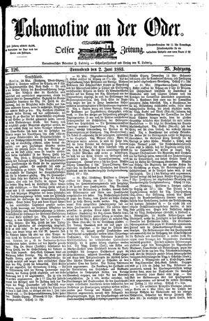 Lokomotive an der Oder vom 02.06.1883