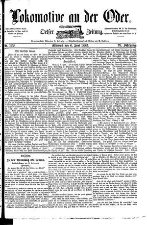 Lokomotive an der Oder vom 06.06.1883