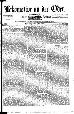 Lokomotive an der Oder vom 07.06.1883