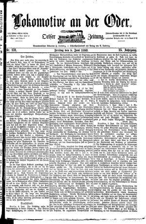 Lokomotive an der Oder vom 08.06.1883