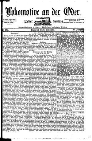 Lokomotive an der Oder vom 09.06.1883