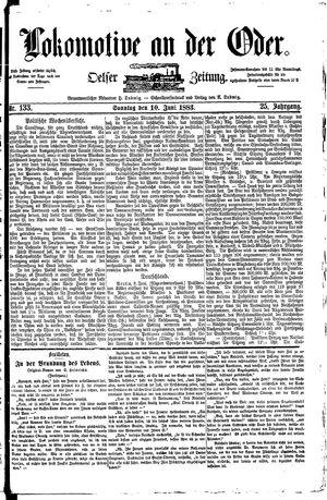 Lokomotive an der Oder vom 10.06.1883