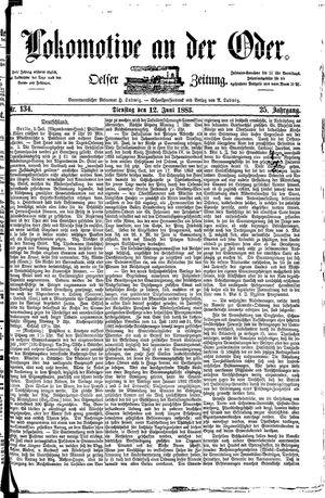 Lokomotive an der Oder vom 12.06.1883