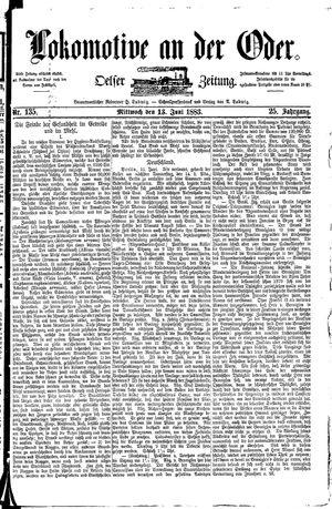 Lokomotive an der Oder on Jun 13, 1883