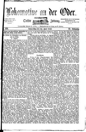 Lokomotive an der Oder vom 14.06.1883