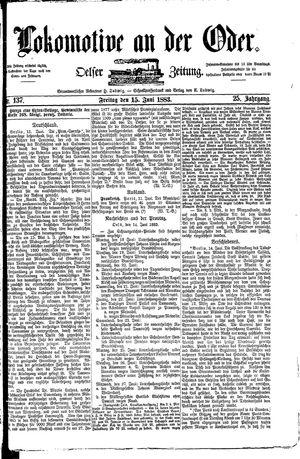 Lokomotive an der Oder vom 15.06.1883