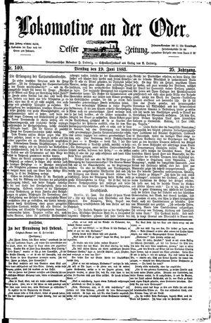 Lokomotive an der Oder vom 19.06.1883