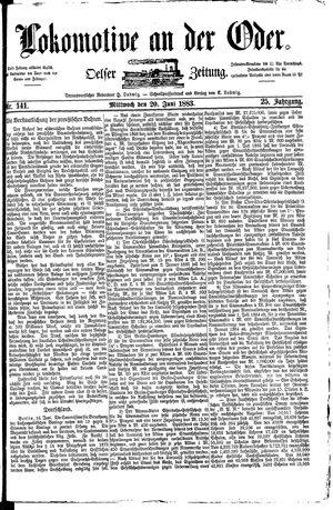 Lokomotive an der Oder vom 20.06.1883
