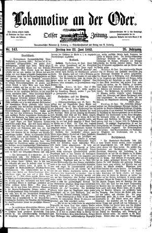 Lokomotive an der Oder vom 22.06.1883