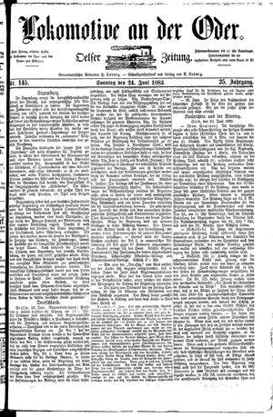 Lokomotive an der Oder vom 24.06.1883