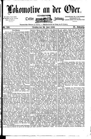 Lokomotive an der Oder vom 26.06.1883