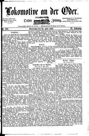 Lokomotive an der Oder vom 28.06.1883