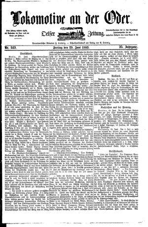 Lokomotive an der Oder vom 29.06.1883