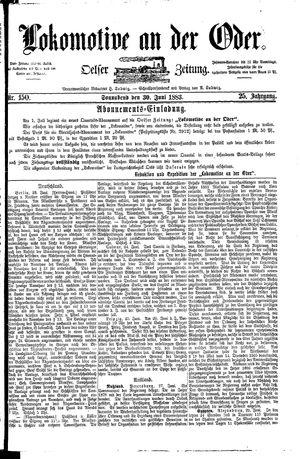 Lokomotive an der Oder vom 30.06.1883