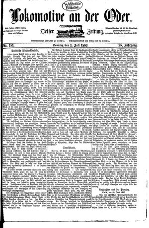 Lokomotive an der Oder vom 01.07.1883