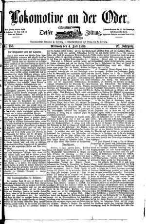 Lokomotive an der Oder vom 04.07.1883