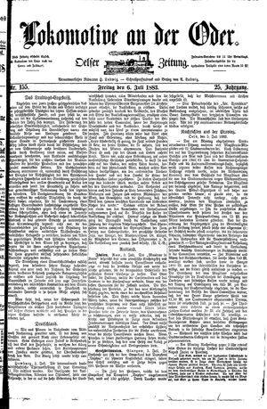 Lokomotive an der Oder vom 06.07.1883