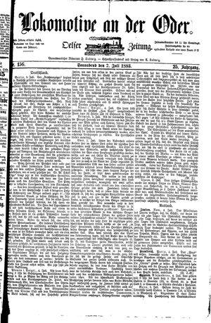 Lokomotive an der Oder vom 07.07.1883