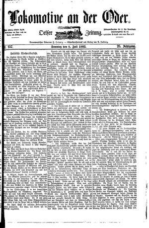 Lokomotive an der Oder vom 08.07.1883