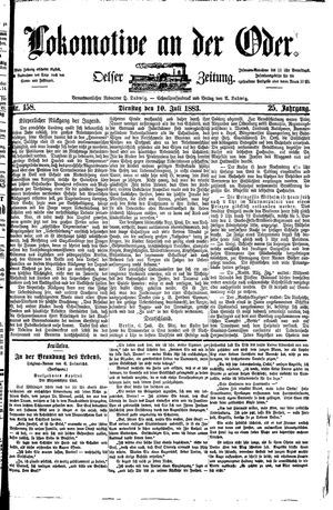Lokomotive an der Oder on Jul 10, 1883