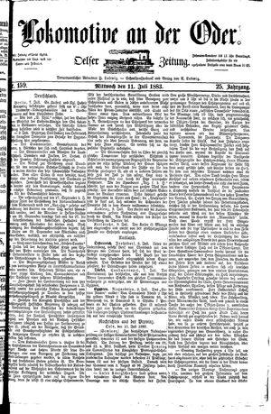 Lokomotive an der Oder vom 11.07.1883