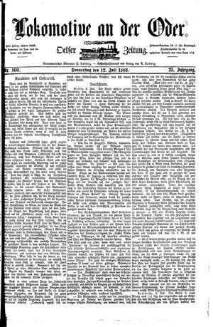 Lokomotive an der Oder vom 12.07.1883