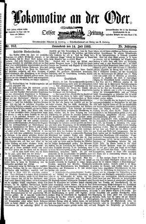 Lokomotive an der Oder vom 14.07.1883