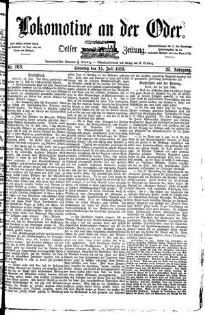 Lokomotive an der Oder on Jul 15, 1883