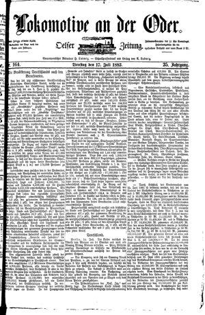Lokomotive an der Oder vom 17.07.1883