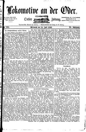 Lokomotive an der Oder vom 18.07.1883