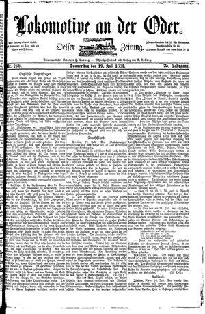 Lokomotive an der Oder vom 19.07.1883