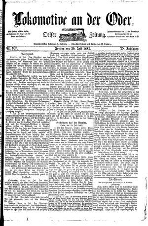 Lokomotive an der Oder vom 20.07.1883