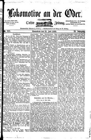 Lokomotive an der Oder vom 21.07.1883