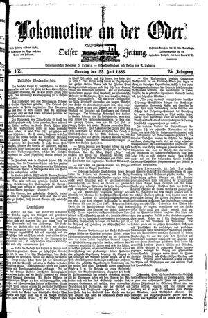 Lokomotive an der Oder vom 22.07.1883