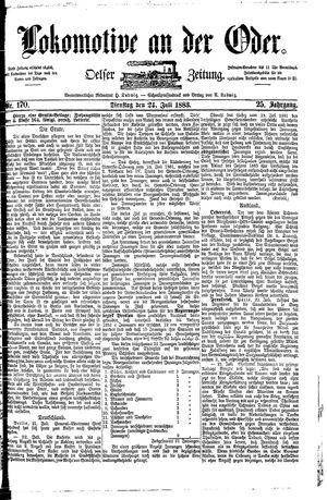 Lokomotive an der Oder vom 24.07.1883