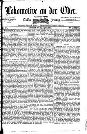 Lokomotive an der Oder vom 25.07.1883