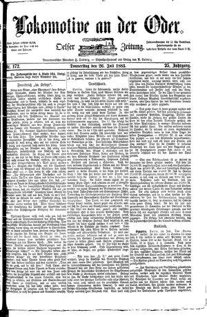 Lokomotive an der Oder vom 26.07.1883