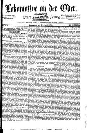 Lokomotive an der Oder vom 28.07.1883