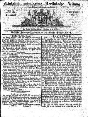 Königlich privilegirte Berlinische Zeitung von Staats- und gelehrten Sachen vom 05.01.1839