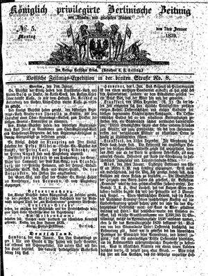 Königlich privilegirte Berlinische Zeitung von Staats- und gelehrten Sachen vom 07.01.1839