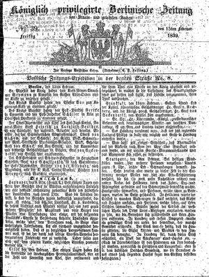 Königlich privilegirte Berlinische Zeitung von Staats- und gelehrten Sachen vom 15.02.1839
