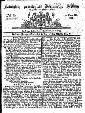 Königlich privilegirte Berlinische Zeitung von Staats- und gelehrten Sachen vom 23.03.1839
