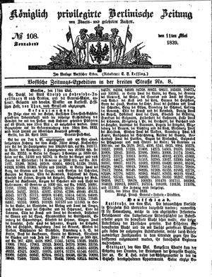Königlich privilegirte Berlinische Zeitung von Staats- und gelehrten Sachen vom 11.05.1839