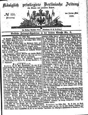 Königlich privilegirte Berlinische Zeitung von Staats- und gelehrten Sachen vom 28.05.1839