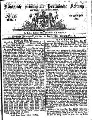 Königlich privilegirte Berlinische Zeitung von Staats- und gelehrten Sachen vom 29.05.1839