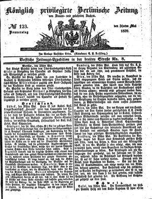 Königlich privilegirte Berlinische Zeitung von Staats- und gelehrten Sachen vom 30.05.1839
