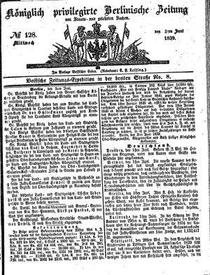 Königlich privilegirte Berlinische Zeitung von Staats- und gelehrten Sachen vom 05.06.1839