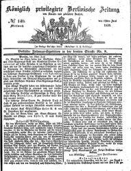 Königlich privilegirte Berlinische Zeitung von Staats- und gelehrten Sachen (19.06.1839)