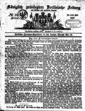 Königlich privilegirte Berlinische Zeitung von Staats- und gelehrten Sachen vom 01.07.1839