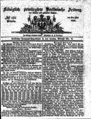 Königlich privilegirte Berlinische Zeitung von Staats- und gelehrten Sachen vom 02.07.1839